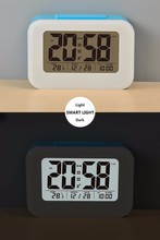 Digital thermometer led table clocks promotional electronic calendar day clock
