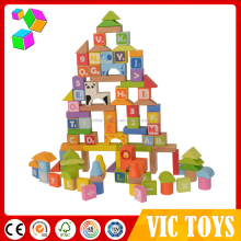 Most popular different design the colorful building blocks / wooden block in China