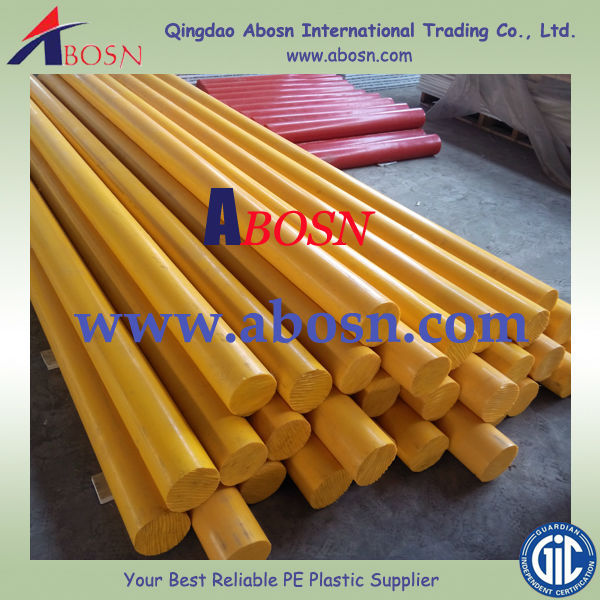 Light weight Yellow HDPE rod/bars