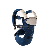KG-200 6-in-1 baby carrier bag cotton baby carrier cheap with confortable head support and buckle straps(royal blue)