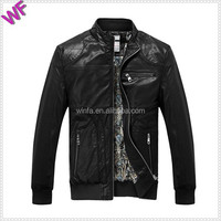 Custom Made Logo Hight Quality Mens PU Leather Jackets Price Good