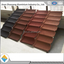 China natural stone coated steel roof tiles -Shingle type