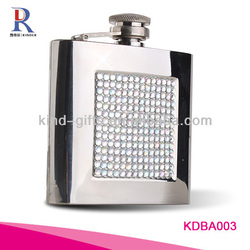 Rhinestone 5oz|6oz Stainless Steel Hip Flask Factory For Lady