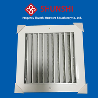 Air vent, adjustable one way air grille