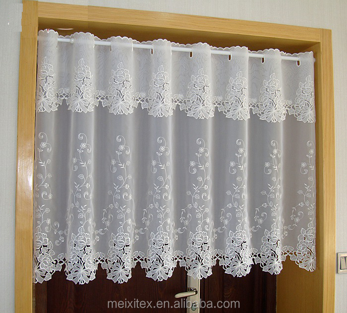 100%polyester classical lace latest fashion designs cafe curtains