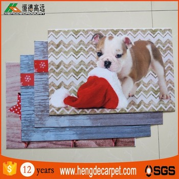 wholesale custom 3d print door mat with pvc backing for entrance