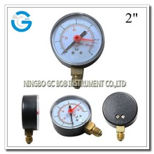 High quality 2 inch black steel case memory pressure gauge with bottom mounting