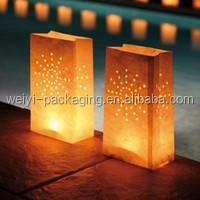 Hot selling luminary paper candle lantern bag wholesale