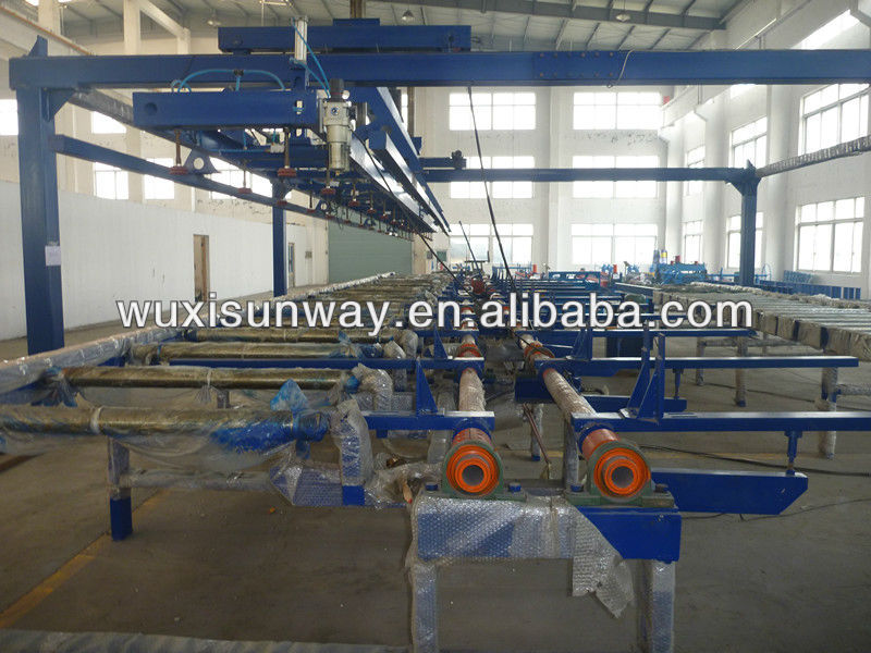 Colored steel PU/Mineral wool sandwich panel automatic stacker