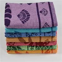 Clearance 70*140cm 330g recycle use polyester cotton Yarn Dyed Jacquard Bath Towel