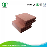 Waterproof Wood Grain Hollow Wpc Decking