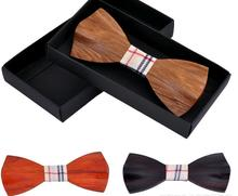 2016 Novelty Solid Good Quality Wood Bow Tie For Men Classic Wood Bowties Neckwear Creative 3D Handmade Butterfly Wood Tie