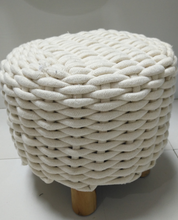 QJMAX High Quality Knitted Custom Round Ottoman