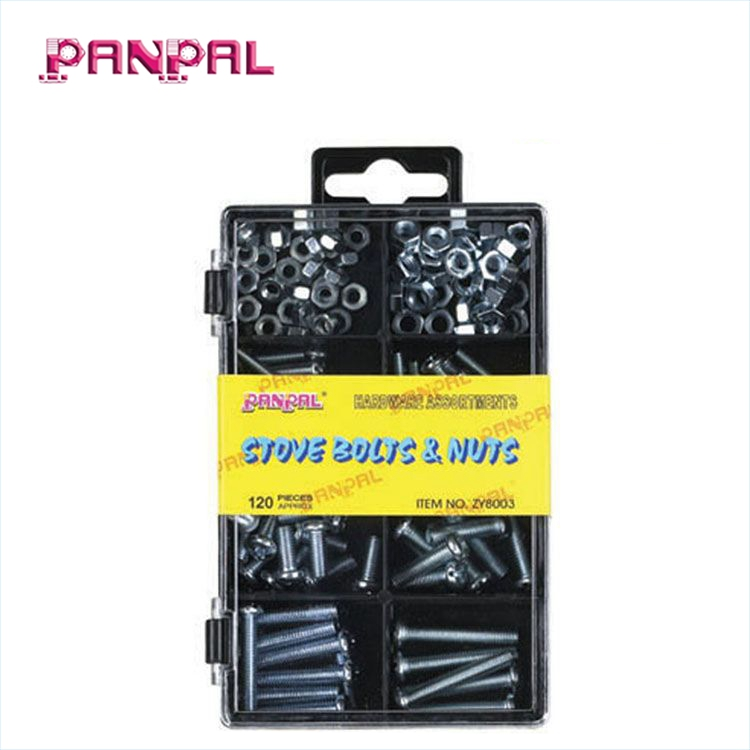 BSCI Approved China Factory Hardware 120 PC <strong>Screw</strong> And Nut Kit for Machine