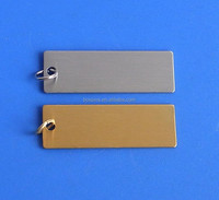 Promotional items gold/silver plated jewelry tag, rectangle shape jewelry tag