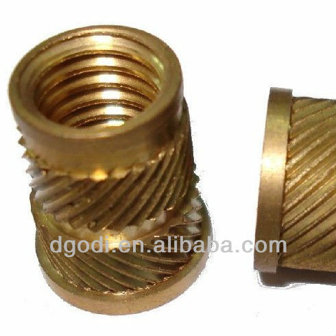 copper knurled m6 insert nut