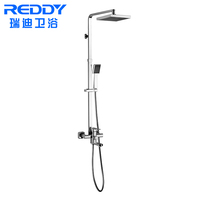 Contemporary Luxury Wall Mounted Rainfall Bath & Shower Faucet Set , Polished Surface Bathroom Exposed Shower Faucet Mixer Tap