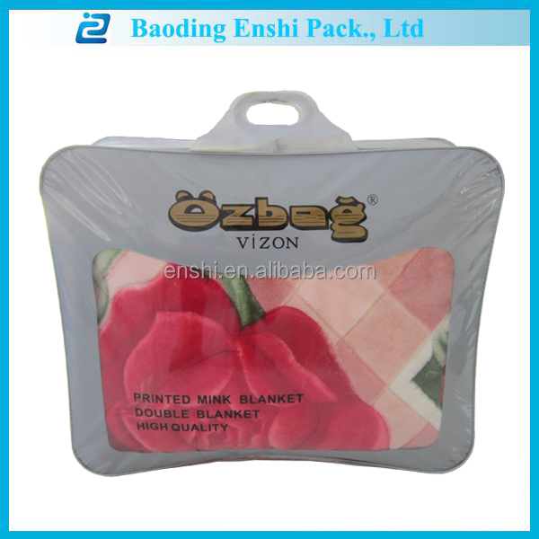 non-woven bending pvc tote bedding storage bag