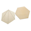 Wooden hexagon shape teaching tools