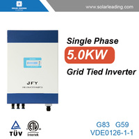 New design 5kw solar on grid inverter connect to pv solar panel for complete home solar power system