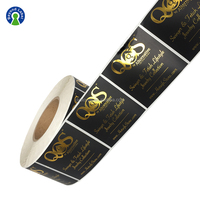 Custom Printed Sticker Printing Label Gold Foil Labels