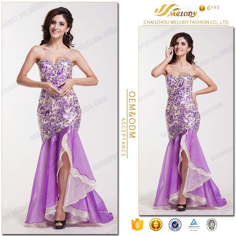 Purple wild sexy leopard print sequin deaded evening dress for fat women