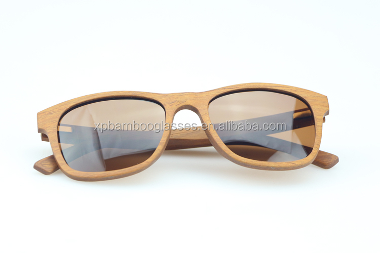 Customized Fashionable UV Protection Wooden Pattern Sunglasses