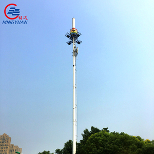 Q345B steel gsm monopole telecommunication tower mobile