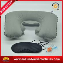 headrest air inflatable pillow for airplane
