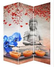 High quality 3 pieces a group stretched buddha oil painting on canvas
