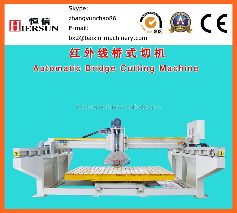 Automatic Bridge Stone Tile Cutting Machine granite marble tile cutting machine stone cutting machine