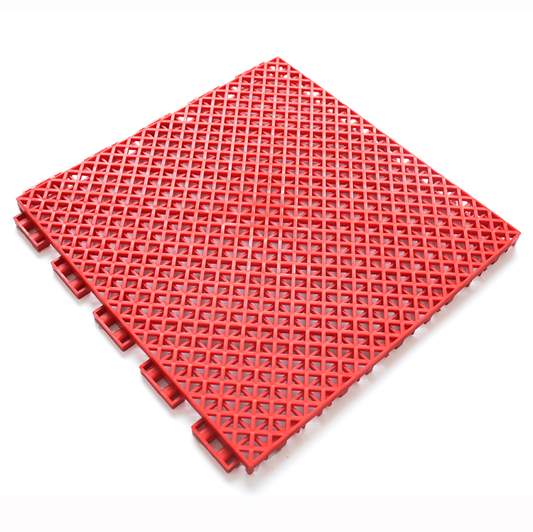 Hot sell style PP interlocking plastic portable basketball court sports flooring, modular badminton outdoor floor mat