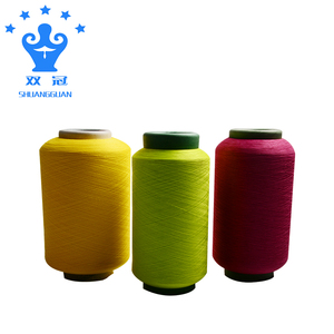 Spandex covered polyester yarn for knitting and weaving supplier