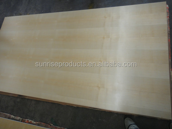 Natural Maple veneer faced 8mm thickness MDF for furnitures