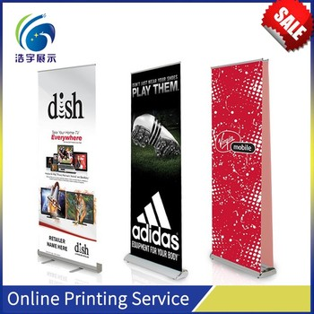 Custom roll up banner,adjust banner stand for sale