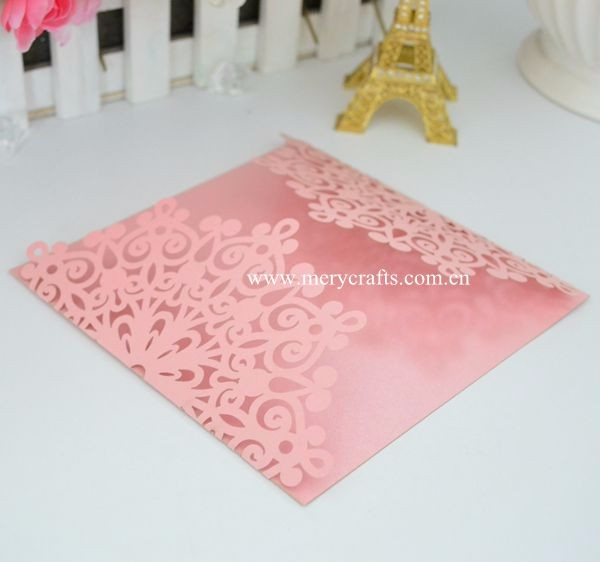 ODM invitation card laser cut hollow out greeting card wedding invitation card wholesale