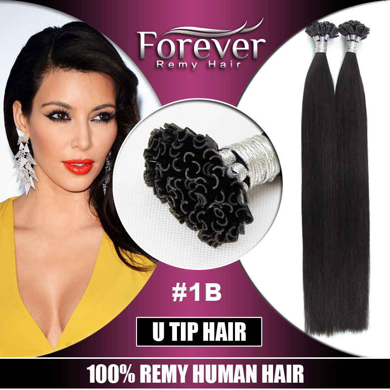 Hot Selling Double Drawn Full Cuticle Cheap Best 100% brazilian Remy Human italy Keratin nail/u tip hair extensions