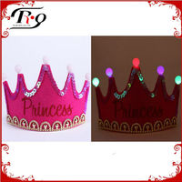 birthday party rose red flashing princess crown tiara