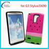 Watermelon printed design combo case for LG G3 Stylus, glossy PC+TPU Hybird case cover for LG G3 Stylus D690