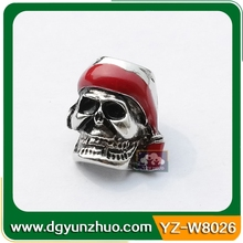 Paracord metal skull beads for bracelet, metal charms