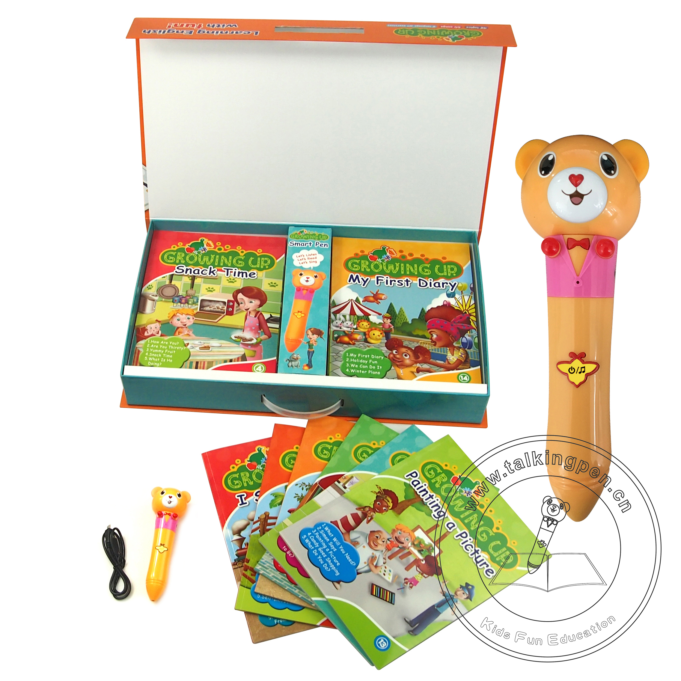 Wholesale Hot Selling Growing Up Children Audio <strong>Books</strong> Educational Children's Talking Pen for Kids Learning English