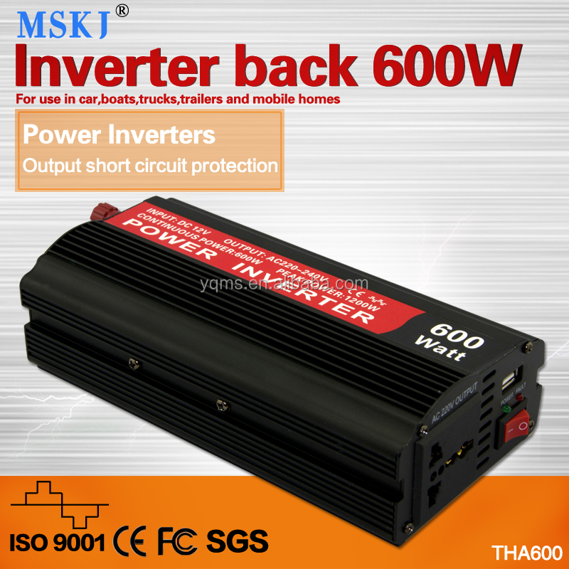 THA 600W power inverter has battery charge protable good quality for car and mobile home
