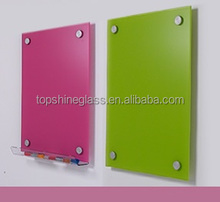 Ofiice popular tempered magnetic glass whiteboard with magnets