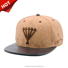 k products high crown 6 panel hats custom embroidered caps snapback leather hats, wood hat cork cap