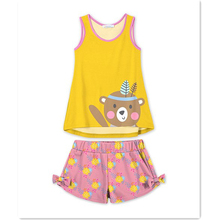 MUSTARD& pink bear tank & shorts - toddler & girls baby girl boutique clothing sets