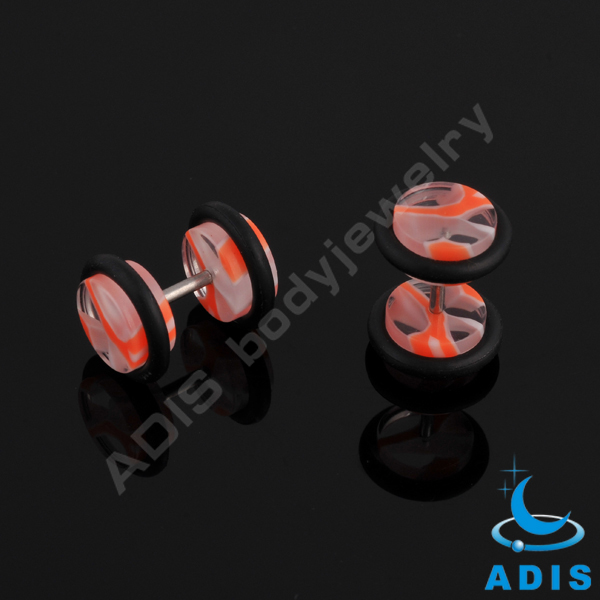 Wholesale 16g colourful sky Fake Ear Tunnels Stud