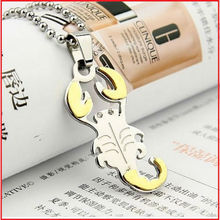 2012 plated gold stainless steel scorpion pendant