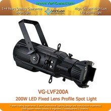3200K-6500K LED Profile Spot Ellipsoidal Gobo Projector Light 200W Profile spot Light