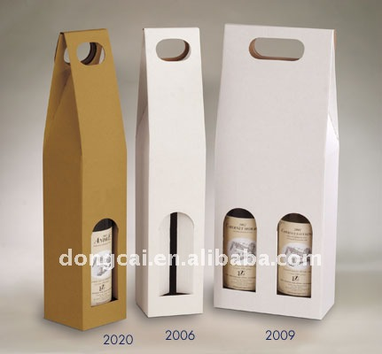 2012 Top Grade coated paper die-cut wine boxes