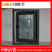 China Supplier Windows Powder Coated Aluminum Reflective Casement Window